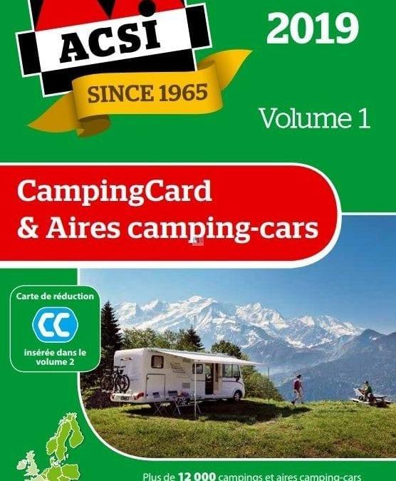 Le guide ACSI Campings et Aires de Camping-car 2019 est arrivé en concession au prix de 26.95 € !