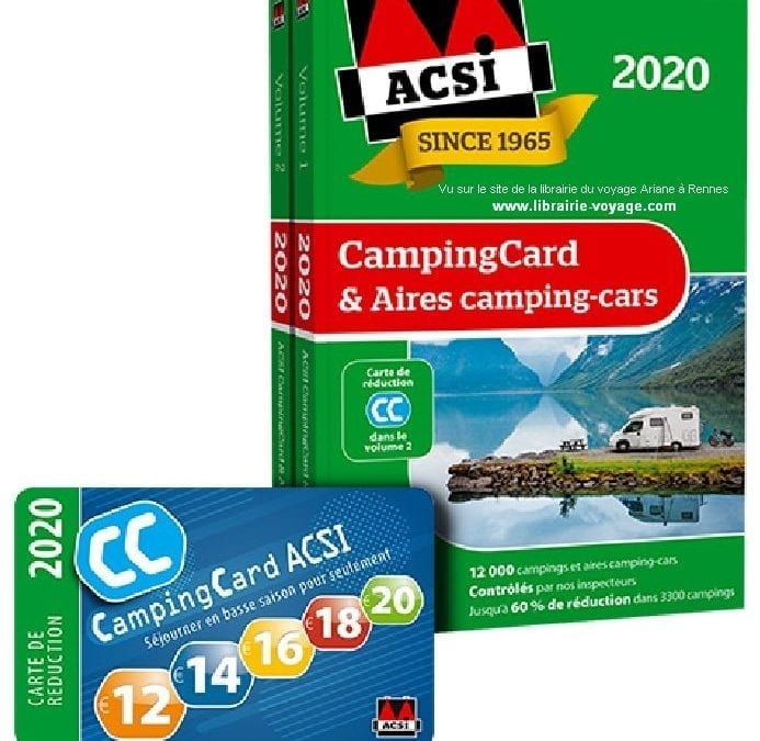 Les guides ACSI Campings & Aires de service sont disponibles en concession !