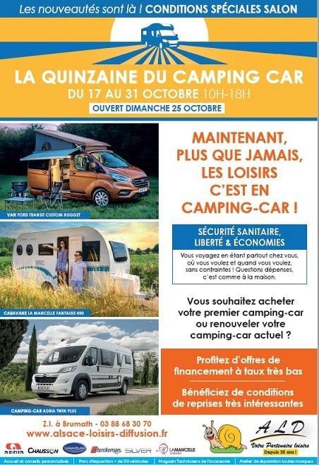 La quinzaine du camping-car, c'est du 17 au 31 octobre dans votre concession !